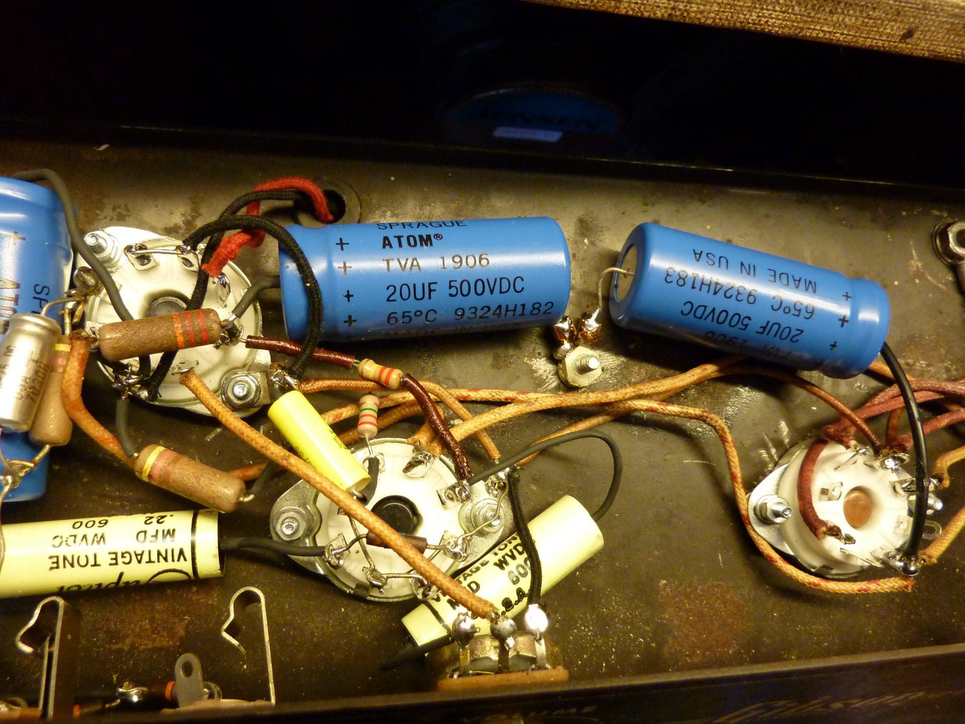 wiring teisco amp kalamazoo amp